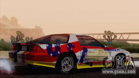 Chevrolet Camaro IROC-Z 1989 FIXED for GTA San Andreas engine