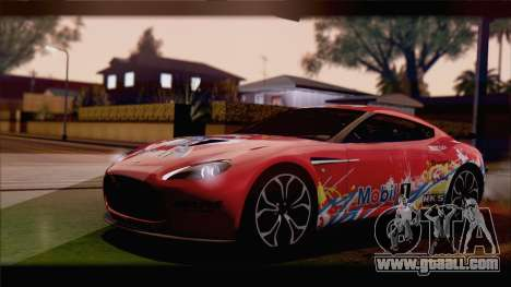 Aston Martin V12 Zagato 2012 [HQLM] for GTA San Andreas left view