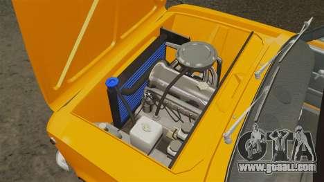 Vaz-2101 tuning for GTA 4 inner view