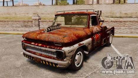 Chevrolet Tow truck rusty Rat rod for GTA 4