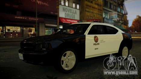 Dodge Charger LAPD 2008 for GTA 4 right view