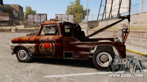 Chevrolet Tow truck rusty Rat rod for GTA 4 left view