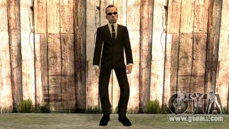 Smith from movie matrix for GTA San Andreas