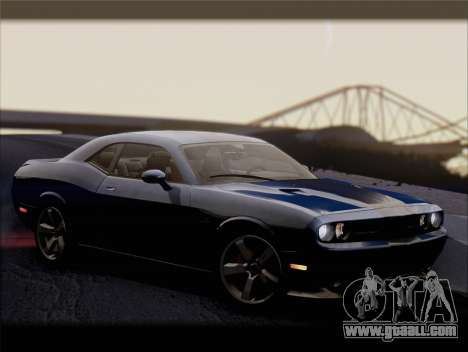 Dodge Challenger SRT8 2012 HEMI for GTA San Andreas upper view