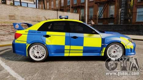 Subaru Impreza WRX STI 2011 Police [ELS] for GTA 4 left view