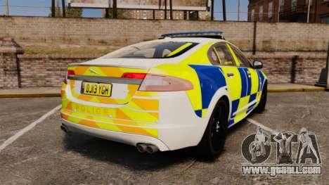 Jaguar XFR 2010 Police Marked [ELS] for GTA 4 back left view