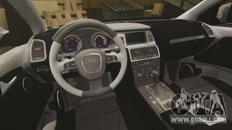 Audi Q7 Unmarked Police [ELS] for GTA 4 inner view