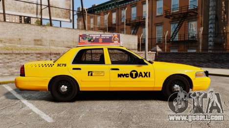 Ford Crown Victoria 1999 NYC Taxi v1.1 for GTA 4 left view