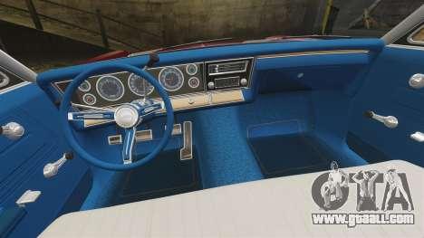 Chevrolet Impala 1967 for GTA 4 inner view