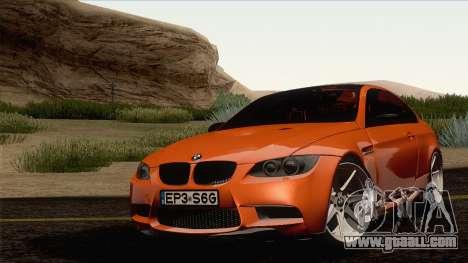 BMW M3 E92 2008 Vossen for GTA San Andreas right view