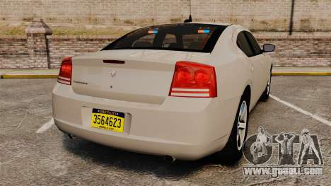Dodge Charger Unmarked Police [ELS] for GTA 4 back left view