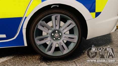 Jaguar XFR 2010 Police Marked [ELS] for GTA 4 back view