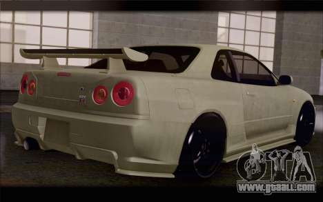 Nissan Skyline R34 Z-Tune for GTA San Andreas left view