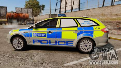 Ford Mondeo Metropolitan Police [ELS] for GTA 4 left view
