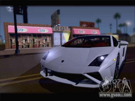 Lamborghini Gallardo 2013 for GTA San Andreas back left view