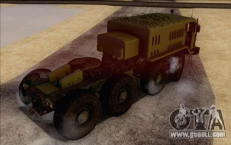 535 MAZ Military for GTA San Andreas left view