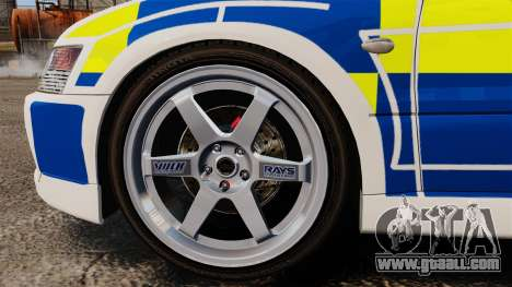 Mitsubishi Lancer Evolution IX Police [ELS] for GTA 4 back view