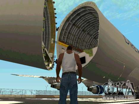Boeing-747 Dream Lifter for GTA San Andreas inner view
