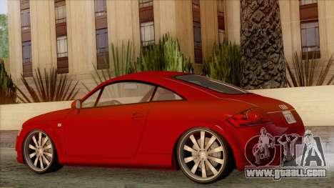 Audi TT 1.8T for GTA San Andreas left view