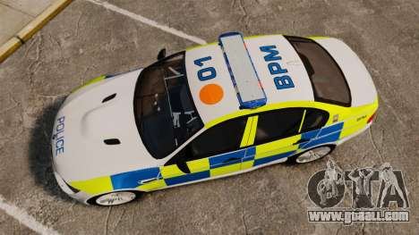 BMW M3 British Police [ELS] for GTA 4 right view