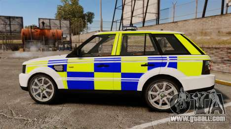 Range Rover Sport Metropolitan Police [ELS] for GTA 4 left view