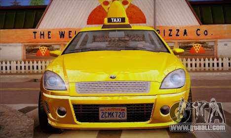 Declasse Premier Taxi for GTA San Andreas bottom view