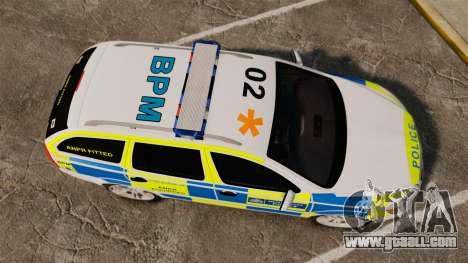 Skoda Octavia Scout RS Metropolitan Police [ELS] for GTA 4 right view