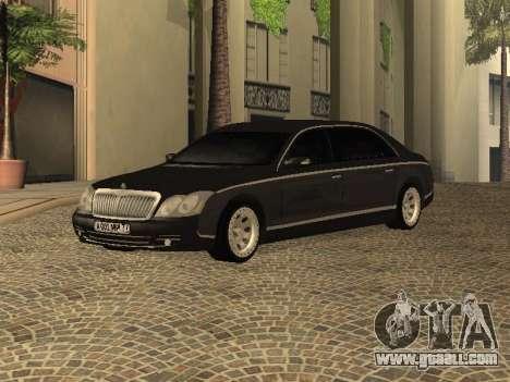 Maybach 62 V2.0 for GTA San Andreas