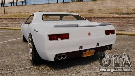 GTA V Declasse Gauntlet ZL1 2014 Facelift for GTA 4 back left view