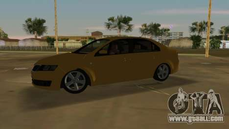 Skoda Rapid 2013 for GTA Vice City left view