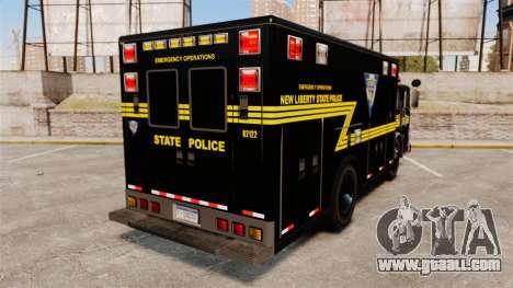 Hazmat Truck NLSP Emergency Operations [ELS] for GTA 4 back left view