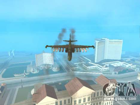 Su 25 for GTA San Andreas inner view