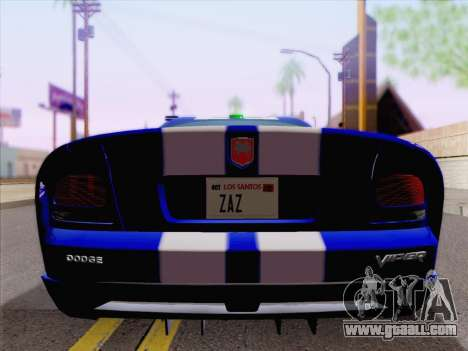 Dodge Viper SRT-10 Coupe for GTA San Andreas upper view