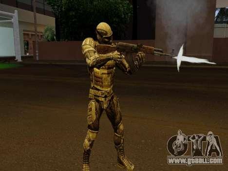 Korean Nano-suit of Crysis for GTA San Andreas fifth screenshot