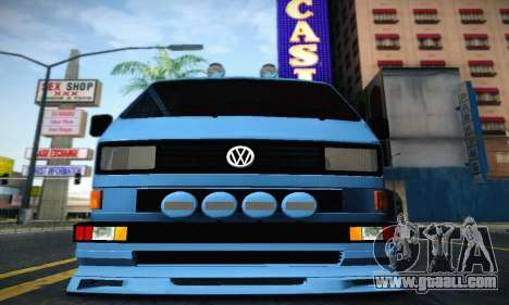 Volkswagen Transporter T2 Tuning for GTA San Andreas back left view