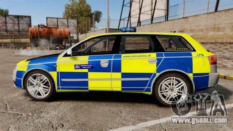 Audi S4 Avant Metropolitan Police [ELS] for GTA 4 left view