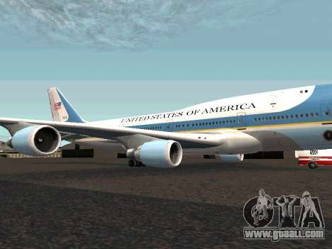 Boeing-747-400 Airforce one for GTA San Andreas left view
