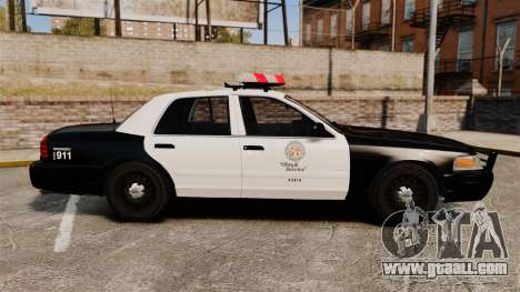 Ford Crown Victoria 1999 LAPD & GTA V LSPD for GTA 4 left view