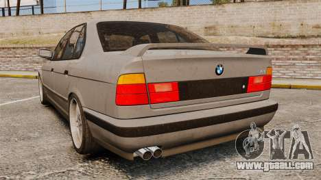 BMW M5 E34 for GTA 4 back left view