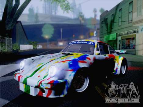 Porsche 911 RSR 3.3 skinpack 6 for GTA San Andreas back left view