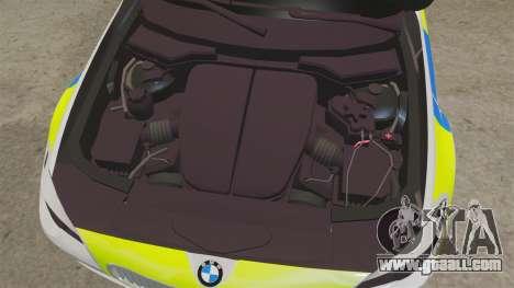 BMW 550d Touring Metropolitan Police [ELS] for GTA 4 inner view