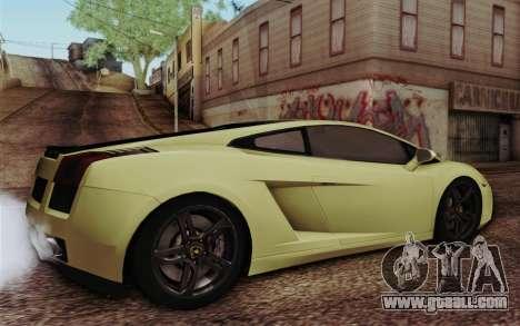 Lamborghini Gallardo SE for GTA San Andreas left view