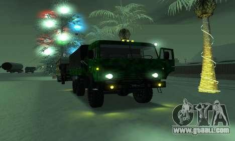 Army KAMAZ 4310 for GTA San Andreas back view