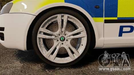 Skoda Superb 2006 Police [ELS] Whelen Edge for GTA 4 back view