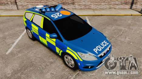 Ford Focus Estate 2009 Police England [ELS] for GTA 4 side view