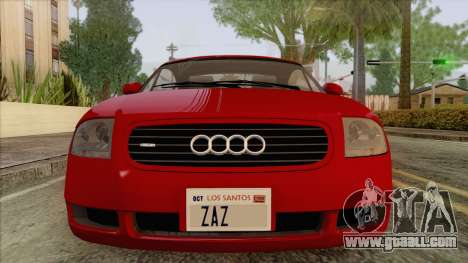 Audi TT 1.8T for GTA San Andreas back view