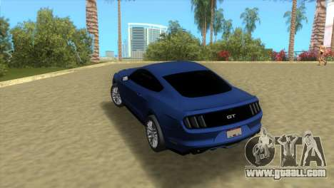 Ford Mustang GT 2015 for GTA Vice City back left view
