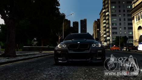 BMW X6 M Hamann 2013 Vossen for GTA 4 back left view