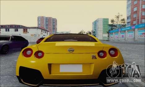 Nissan GT-R Spec V for GTA San Andreas back left view