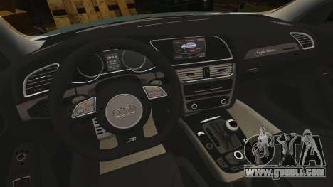 Audi RS4 Avant for GTA 4 inner view